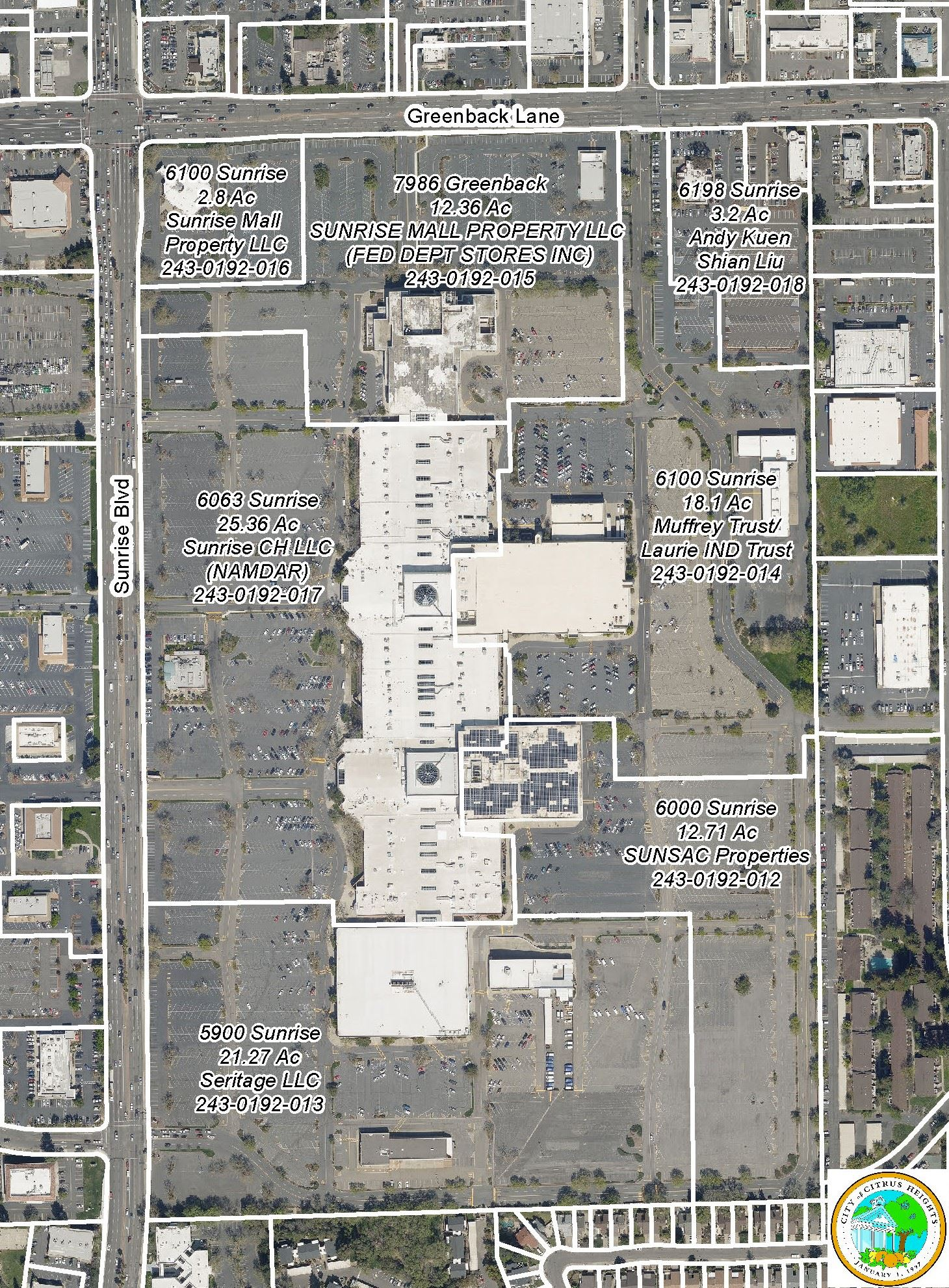 Sunrise Mall Site Map