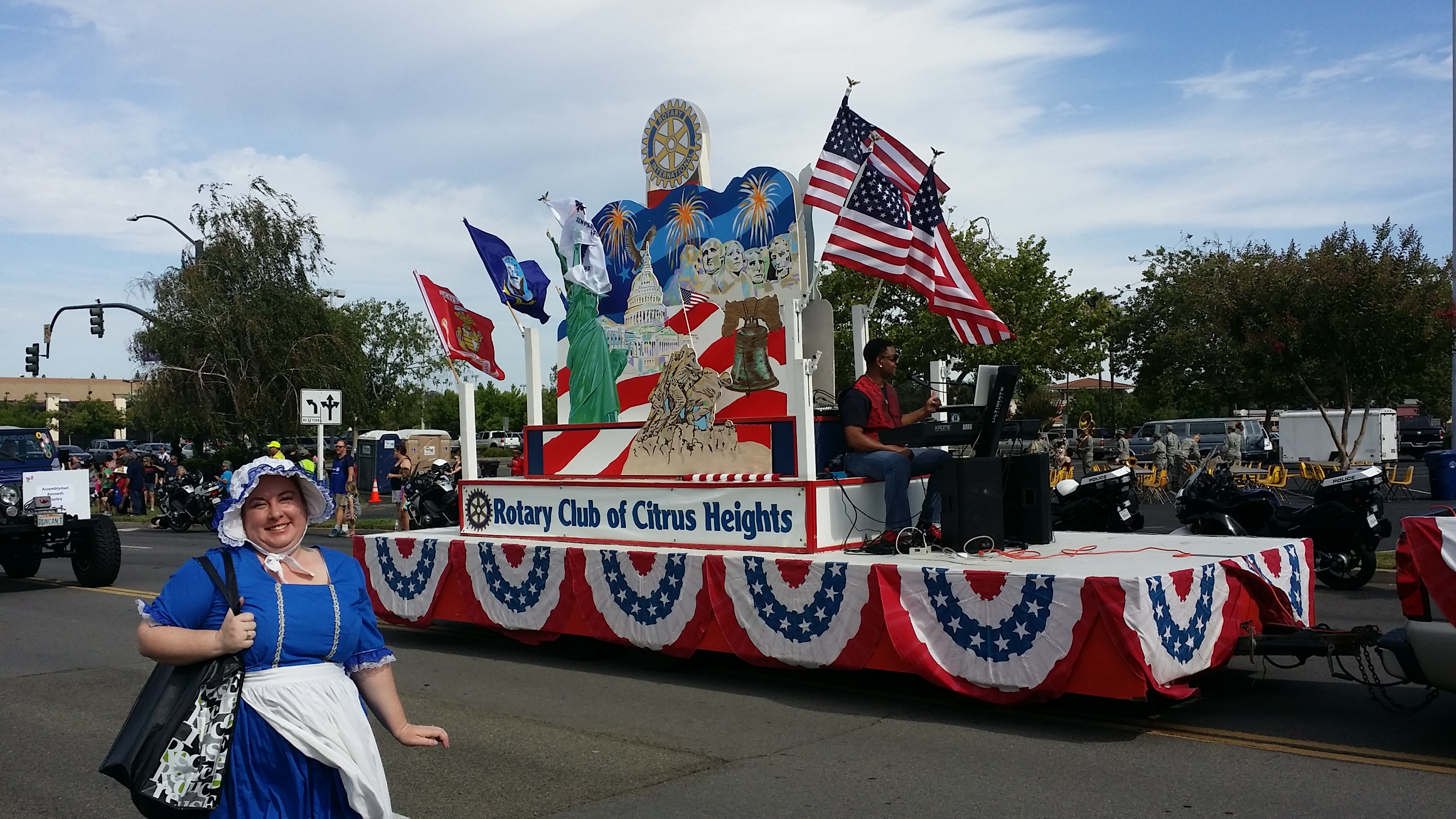 The Rotary Club float