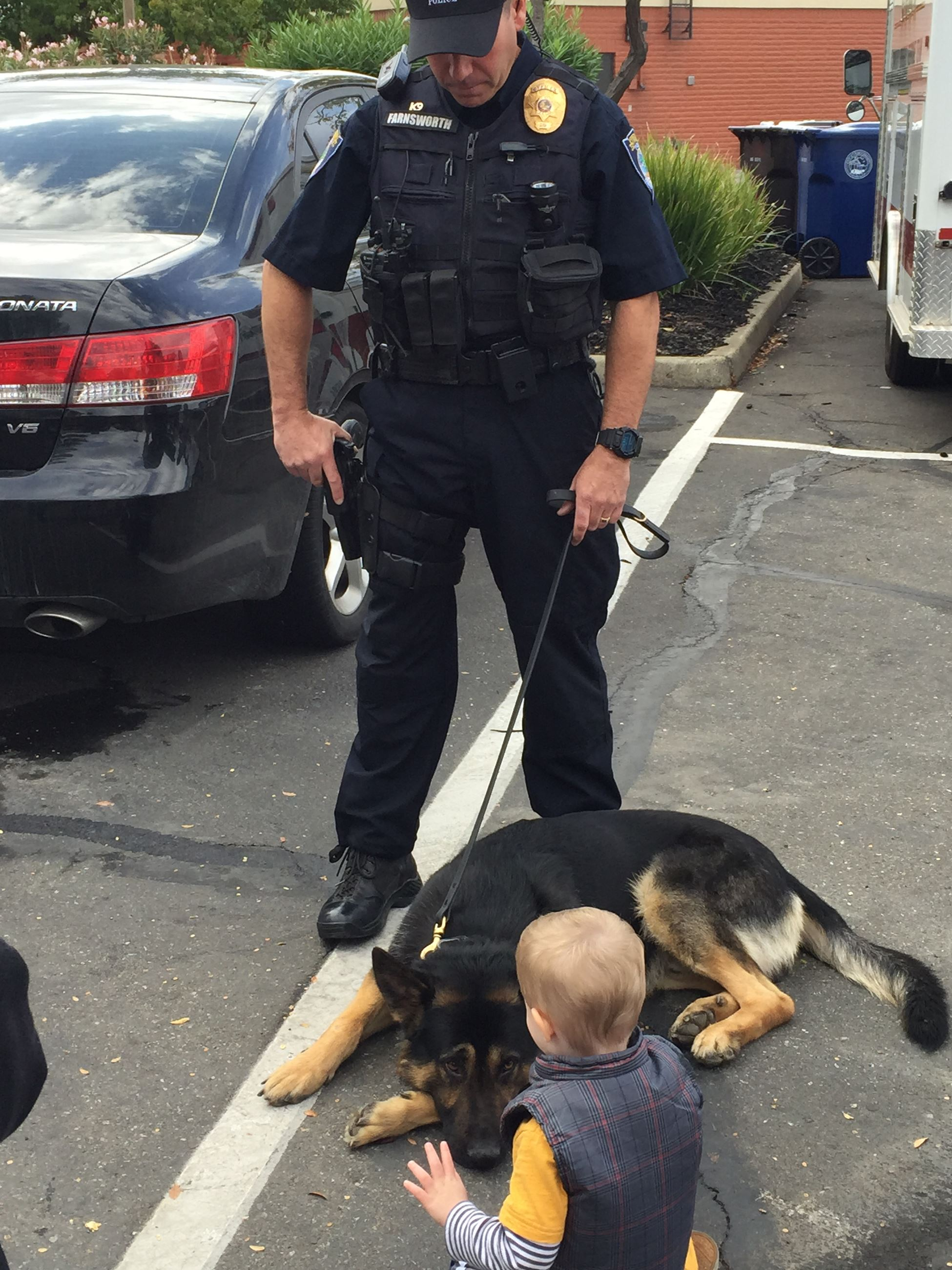 Bonding with a police dog